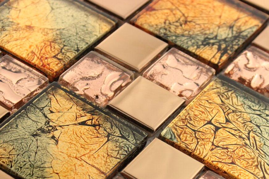 Фольгированная плитка и особенности работы с мозаикой.