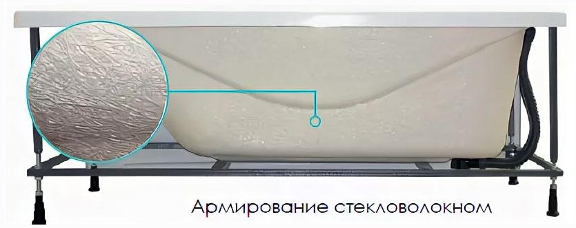 Ванна из полиуретана, армированная стекловолокном.