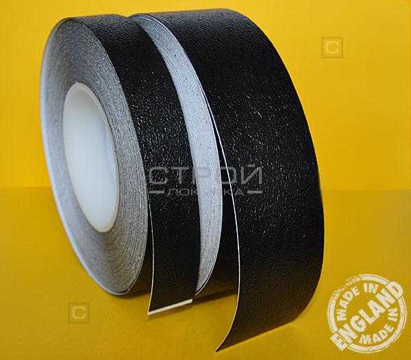 Черная виниловая противоскользящая лента Aqua Safe в рулоне по 2,5 и 5 сантиметров