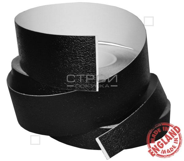 Черная виниловая противоскользящая лента Aqua Safe, Длина: 18,3 метра, Ширина: 2,5; 5; 10 см