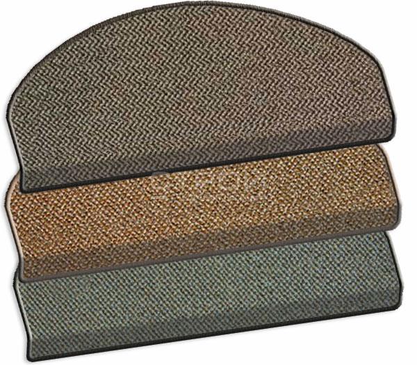 Коврики на ступеньки лестницы - Оникс серого, бежевого и коричнего цвета.