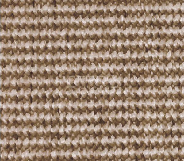 Фактура  ковровой накладки из бежевого сизаля Манила для лестницы.