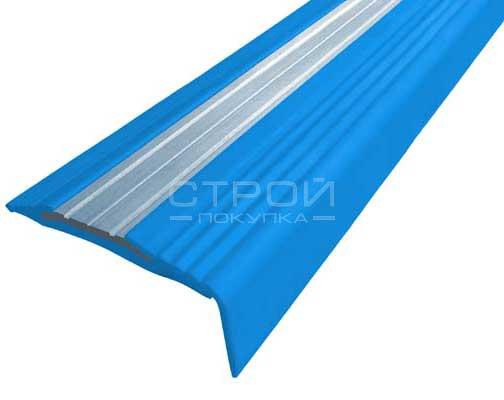 Синий Next АНУ494 угловой противоскользящий профиль, 2,7 м