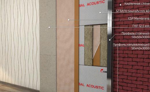 ESP membrane 40дБ тонкая звукоизоляционная мембрана - Каркасная звукоизоляция потолка и стен