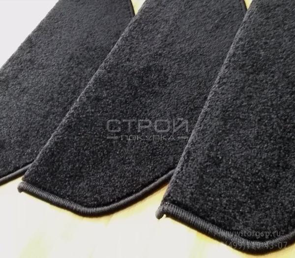 Ворсовые  коврики на лестницы — Ялта Black черного цвета.