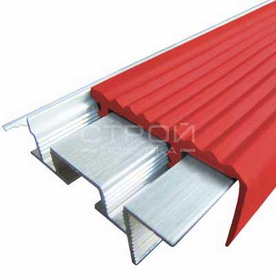 Профиль под плитку NEXT АЗУ43 с антискользящей резиновой вставкой красный
