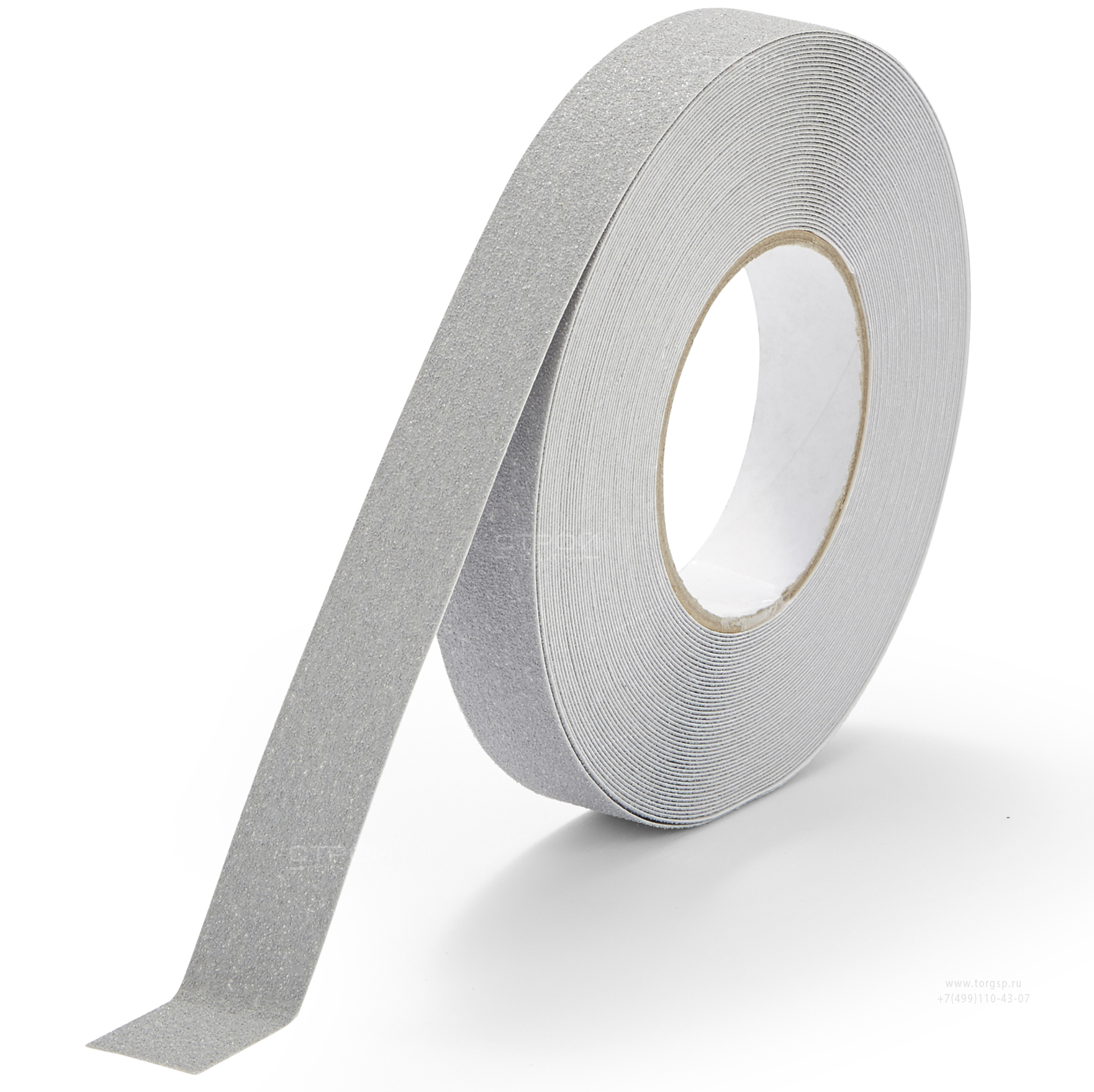 Серая противоскользящая лента Heskins с абразивным покрытием шириной 2,5 см