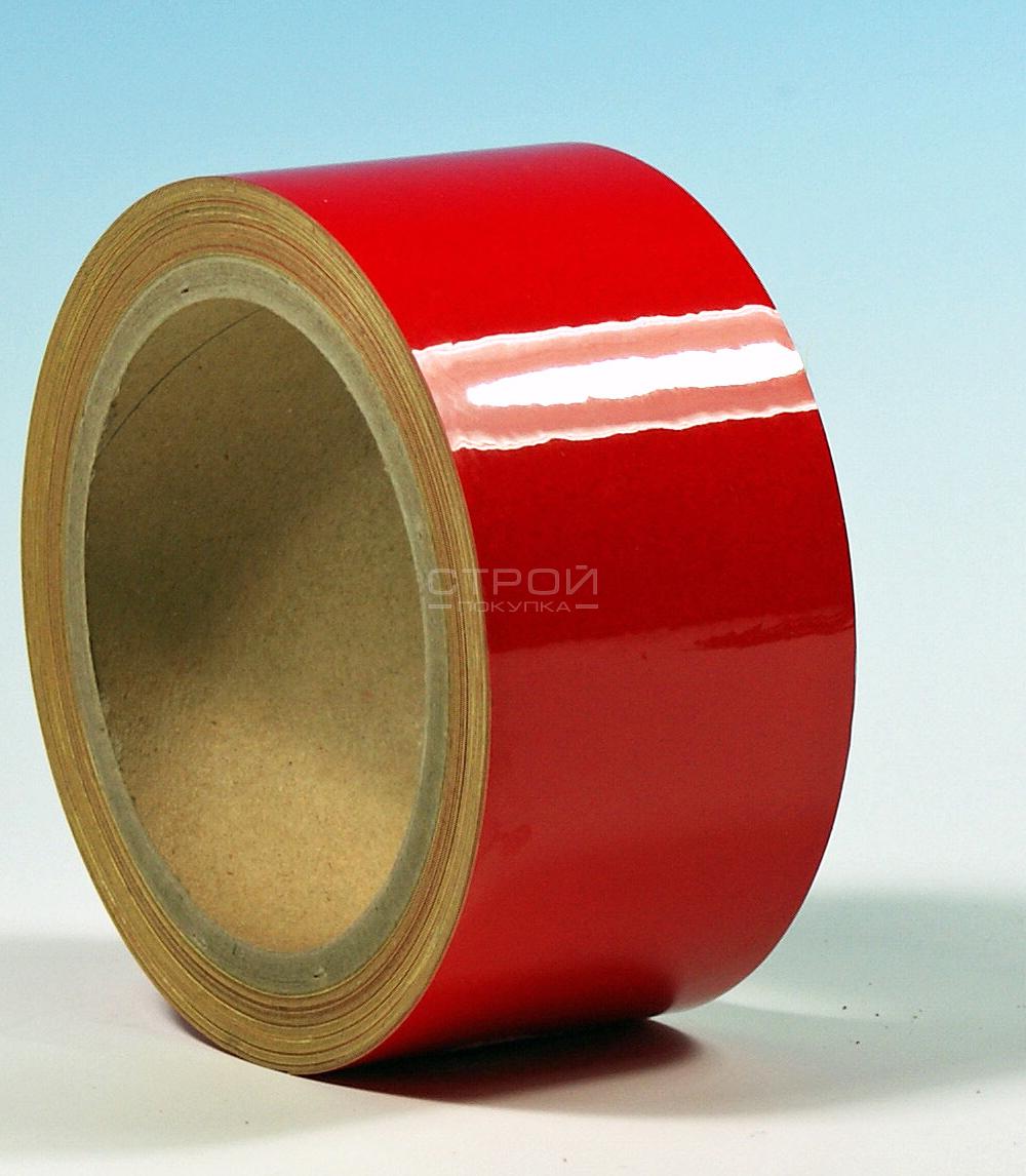 Красная светоотражающая разметочная лента Heskins.