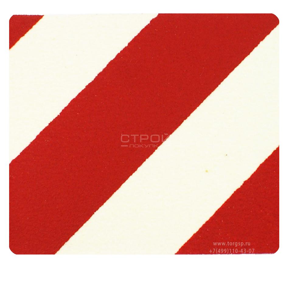 Красно-белый квадрат противоскользящий 10х10 см Heskins