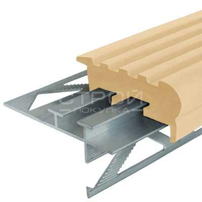 Профиль под плитку NEXT УШ50 с бежевой резиновой вставкой