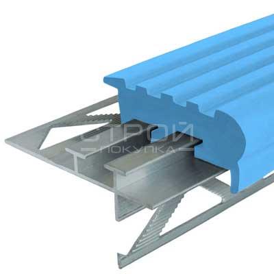 Профиль под плитку NEXT УШ50 с светло-голубой резиновой вставкой