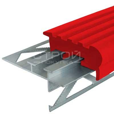 Профиль под плитку NEXT УШ50 с красной резиновой вставкой