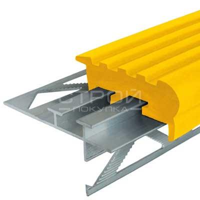 Профиль под плитку NEXT УШ50 с желтой резиновой вставкой