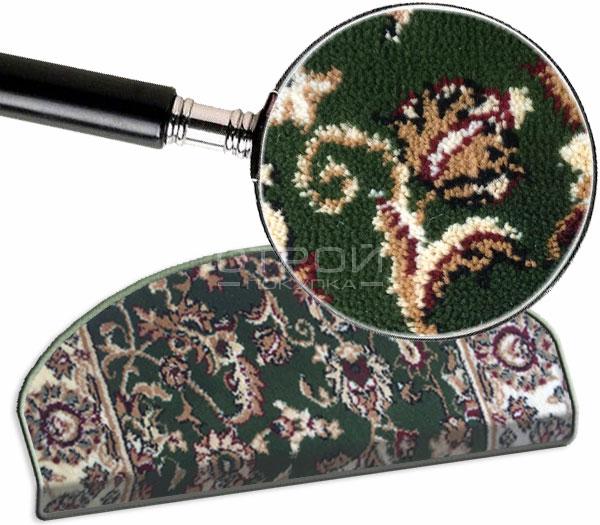 Зеленый коврик Алибаба с увеличенным фрагментом.