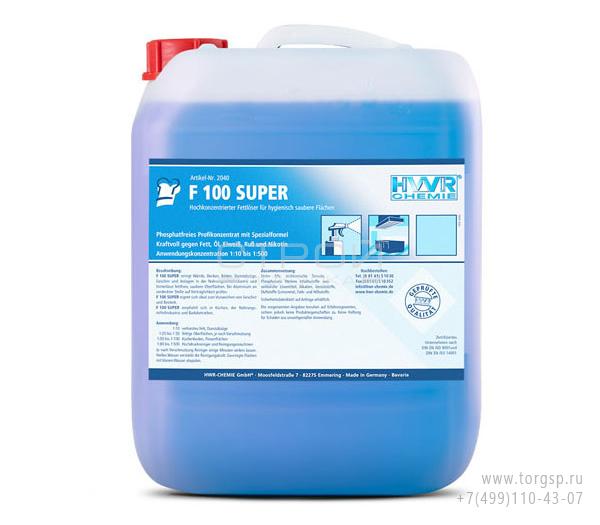 Растворитель жиров  F 100 Super - высококонцентрированный 1: 500 жировой растворитель.