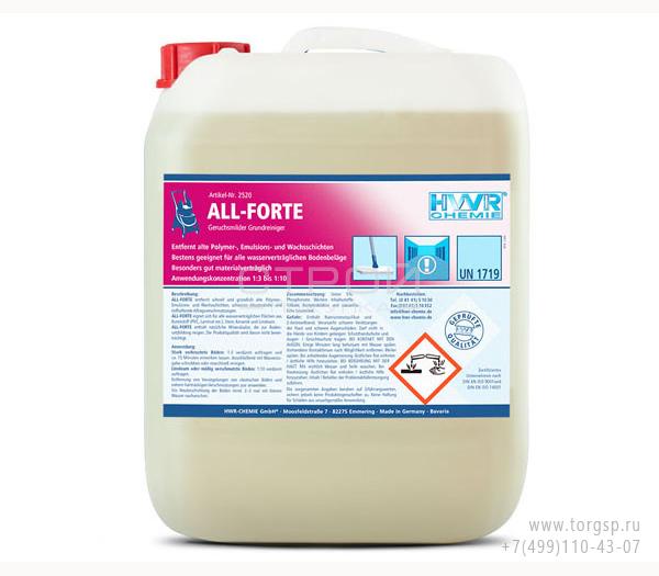 Очиститель для полов All-Forte - базовый очиститель практически без запаха, концентрат 1:10.