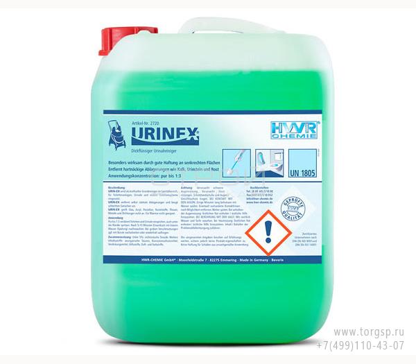 Очиститель унитаза Urin-EX удаляет все сложные загрязнения в унитазе и запах.