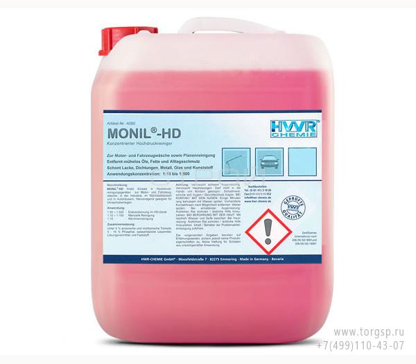 Средство для мойки машин Monil-HD - очиститель высокого давления, суперконцентрат 1: 500.