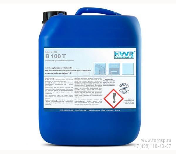 Смазка для опалубки B 100 T - конкретный разделяющий агент, концентрат 1: 4.