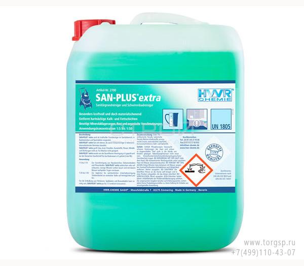 Санитарный очиститель San-Plus extra очищает санитарные зоны и бассейны.