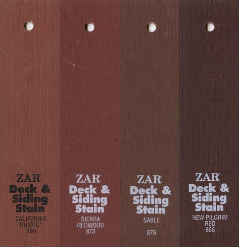 Коричневые цвета Solid Color Deck & Siding Stain