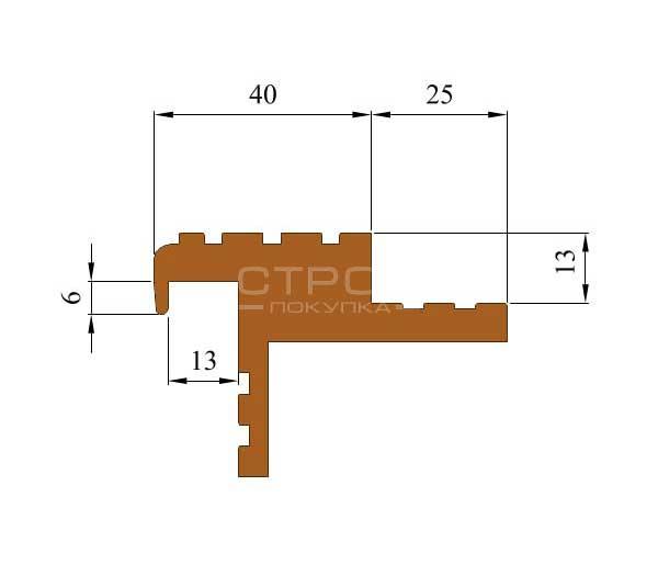 Размеры закладного резинового профиля ТЭП Next БШ.
