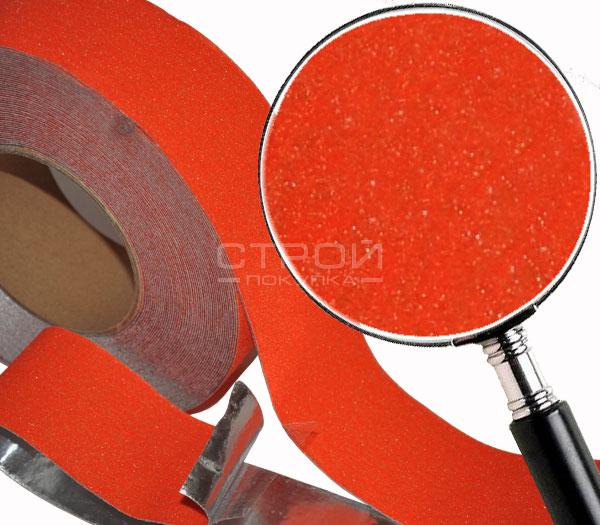 Оранжевая противоскользящая алюминиевая лента