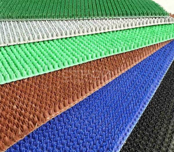 Цветные грязезащитные щетинистые покрытия