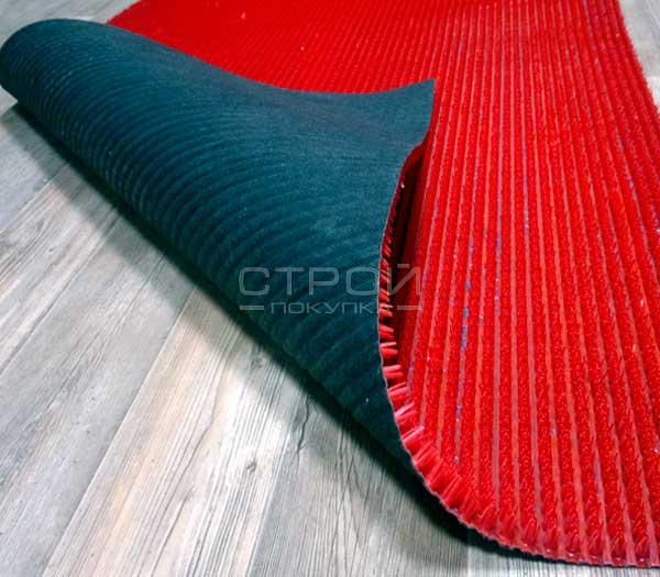 Красное грязезащитное щетинистое покрытие