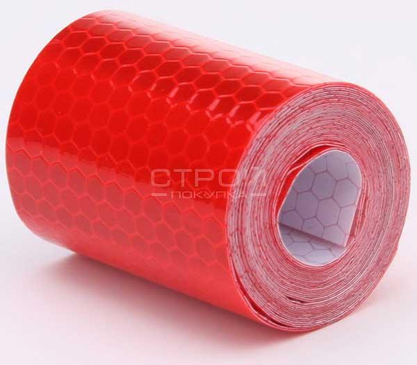 Красная световозвращающая лента DOT