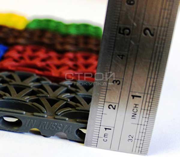 Модульное грязезащитное покрытие высотой 10 мм