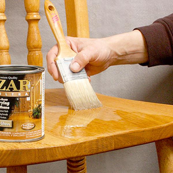Нанесение лака ZAR® ULTRA Polyurethane