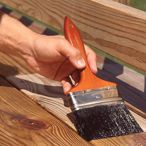 Нанесение Clear Wood Sealer
