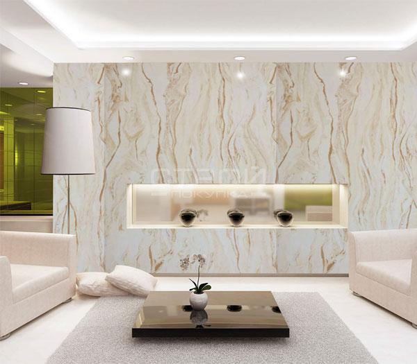 Интерьер комнаты отделанный афинским мрамором.