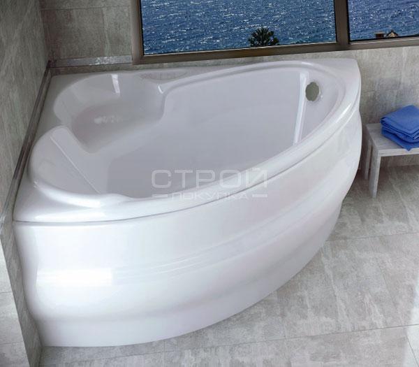 Угловая ванна в маленькой ванной Finezja Nova Besco (140, 155, 170).