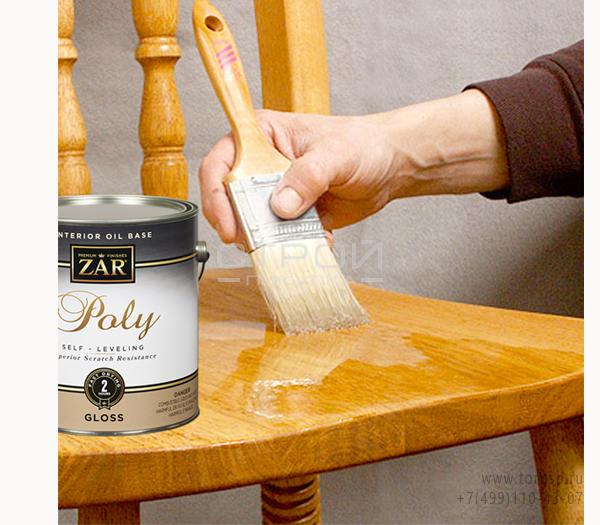 Бесцветный полиуретановый лак для внутренних работ Interior Oil Base Poly