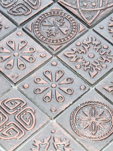 Мозаика Керамическая KG4802 Melian серо-коричневого цвета
