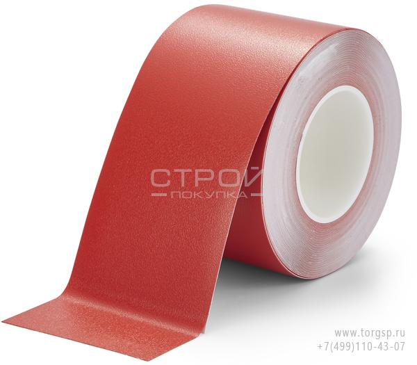 Красная лента виниловая самоклеющаяся H3408 Resilient Heskins с противоскользящим эффектом. Ширина: 10 см.