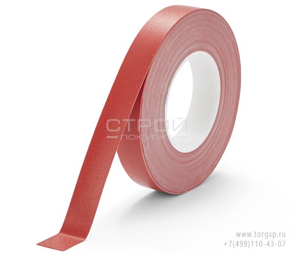 Красная лента виниловая самоклеющаяся H3408 Resilient Heskins с противоскользящим эффектом. Ширина: 2.5 см.