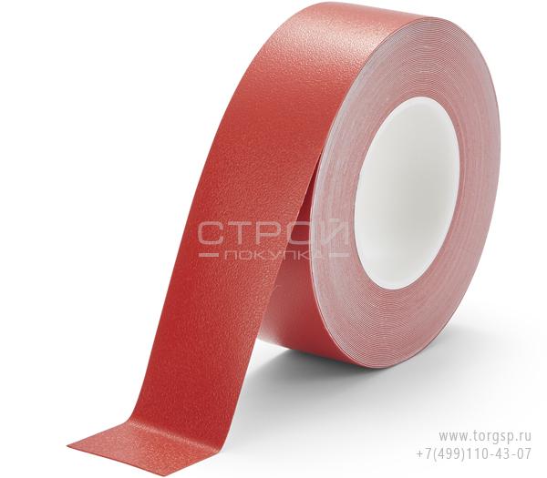 Красная лента виниловая самоклеющаяся Resilient h3408 Heskins с противоскользящим эффектом. Ширина: 5 см