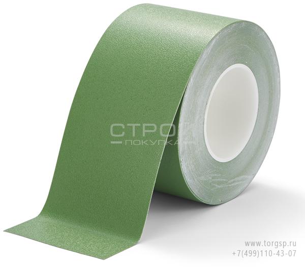 Зеленая лента виниловая самоклеющаяся Resilient h3408 Heskins с противоскользящим эффектом. Ширина: 10 см, Длина: 18,3 метра