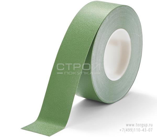 Зеленая лента виниловая самоклеющаяся Resilient h3408 Heskins с противоскользящим эффектом. Ширина: 5 см