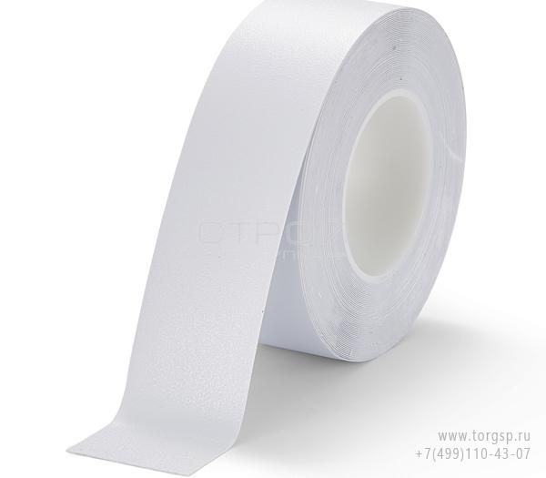 Белая лента виниловая самоклеющаяся Resilient h3408 Heskins с противоскользящим эффектом. Ширина: 5 см