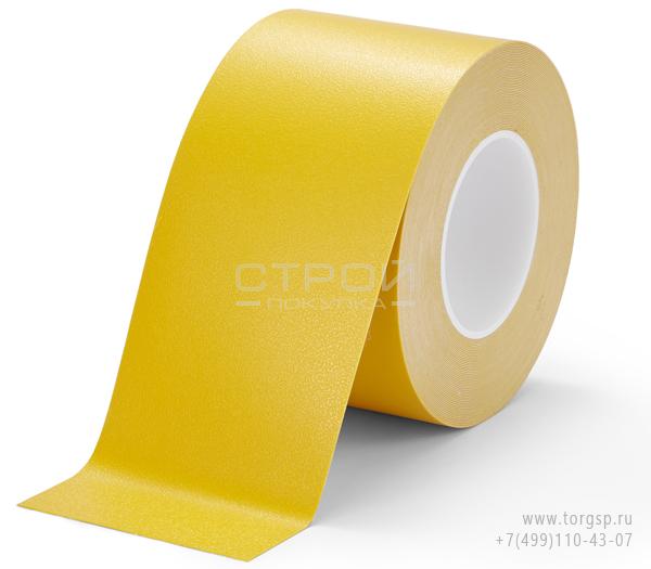 Желтая лента виниловая самоклеющаяся, противоскользящая Resilient h3408 Heskin для социальной разметки