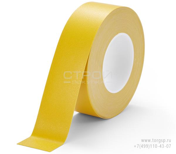 Желтая лента виниловая самоклеющаяся Resilient h3408 Heskins с противоскользящим эффектом. Ширина: 5 см