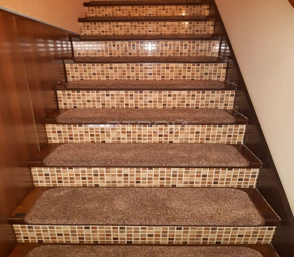 Прямоугольные коврики на лестничные ступеньки Пальмира.