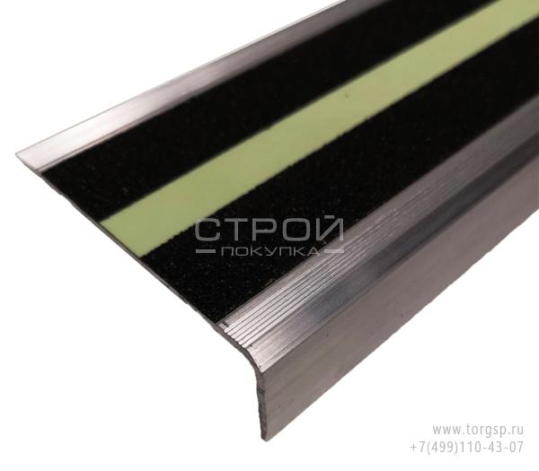 Алюминиевый профиль под ленту АУ-71х25 шириной 50 мм с светящейся полосой.