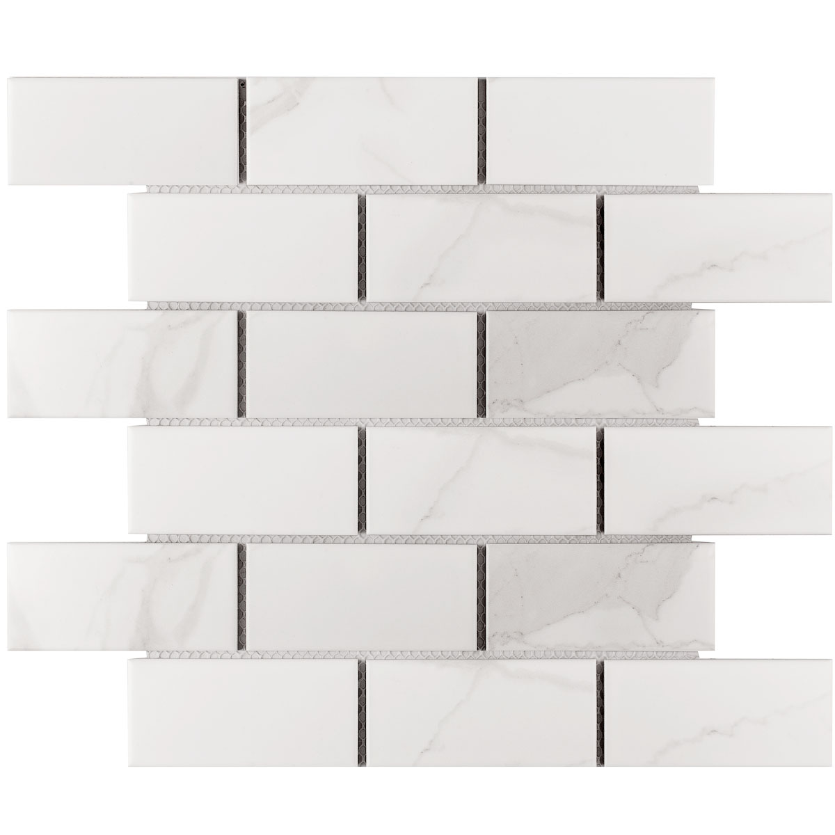 Керамическая мозаика Brick & Metro Brick Carrara Matt 45х95