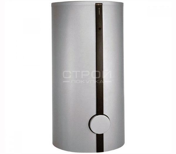 Vitocell 100 v cva 500 л - вертикальный бойлер цвета серебро, с быстрым и равномерным нагревом воды.