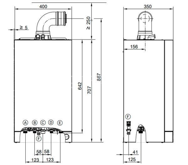Технические данные газового котла Viessmann Vitodens 050 W 24 кВт.
